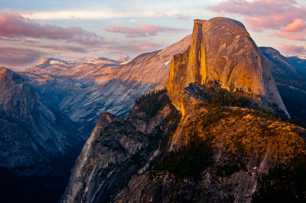 yosemites half dome sunset from glacier point picture id480085336 image