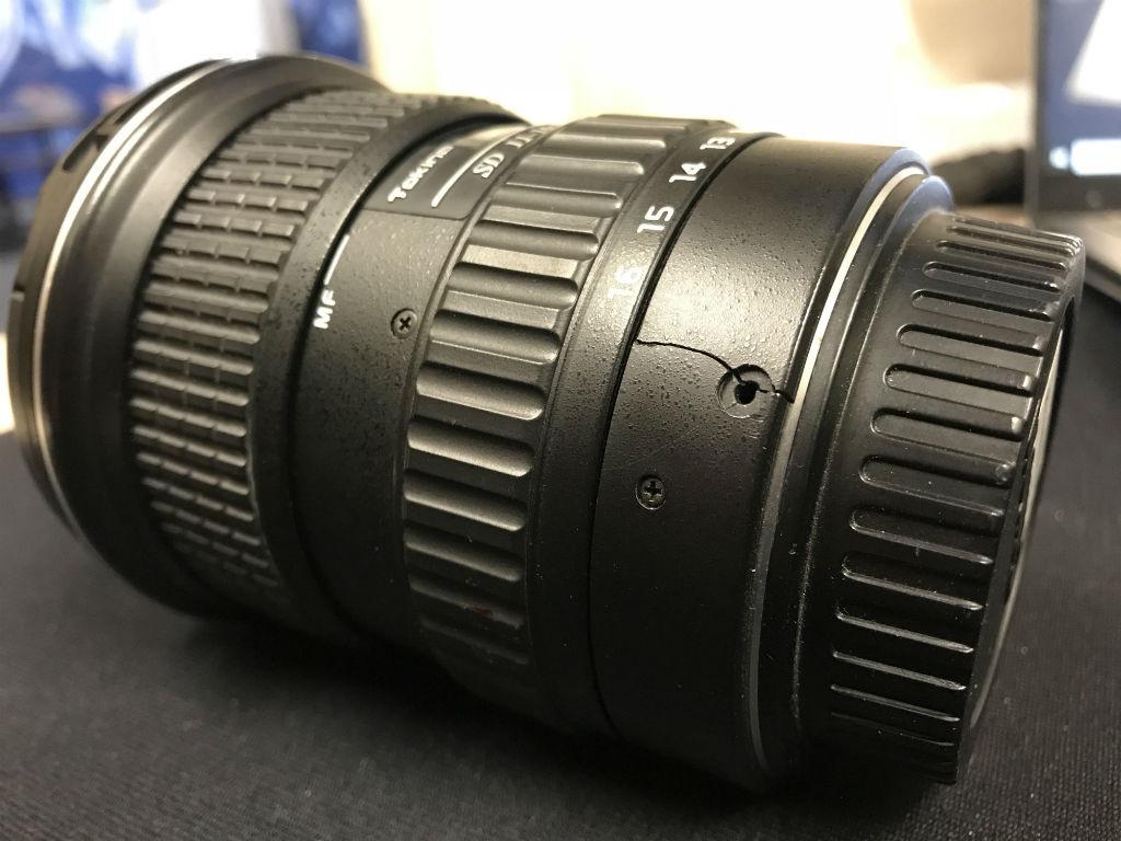 Damaged Tokina 11 16mm Lens