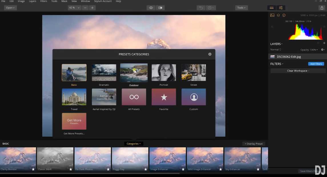 select preset image
