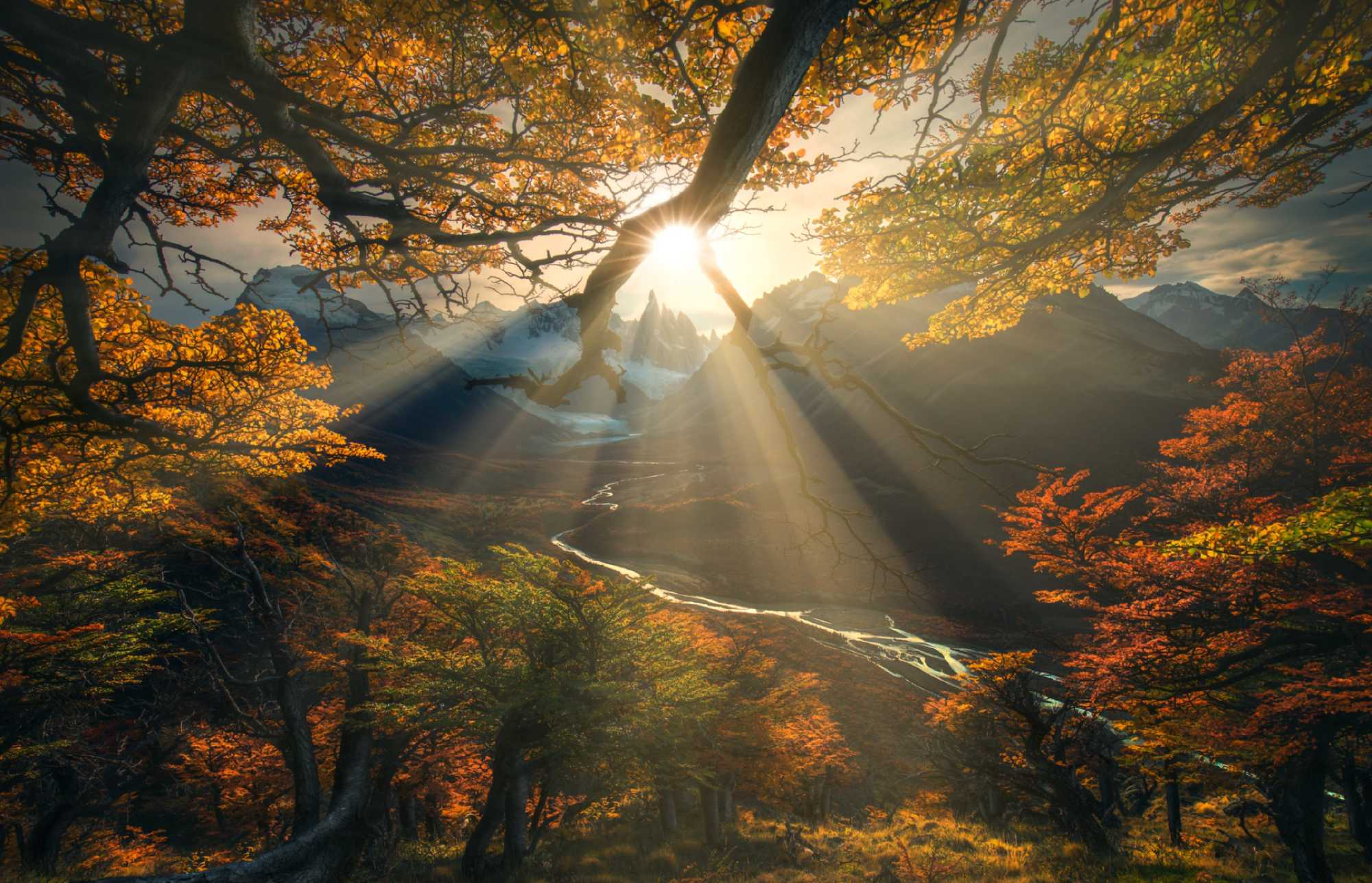 luminar realistic sun rays image