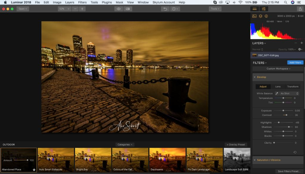 what is luminar 2 image