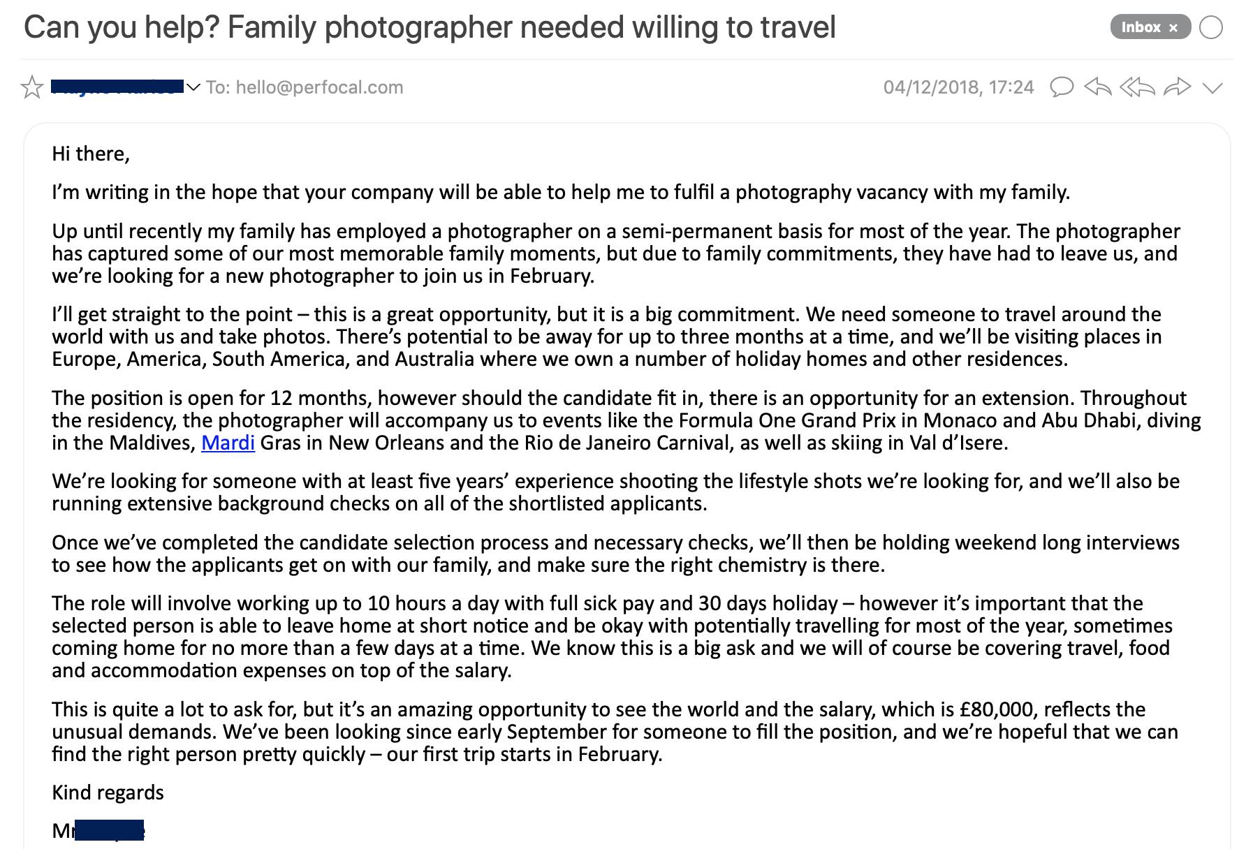 email screenshot image