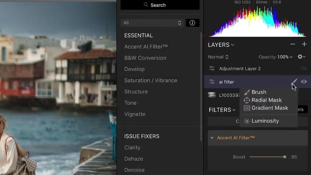 luminar filters image