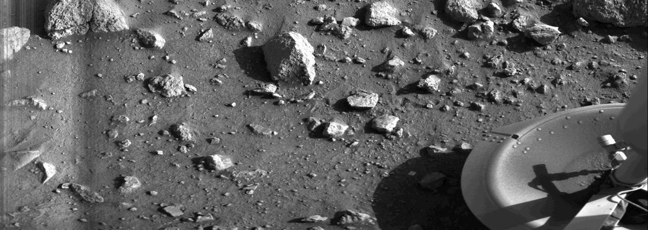 first photo on another planet image