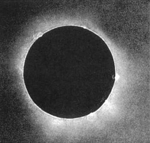 first photo of solar eclipse image