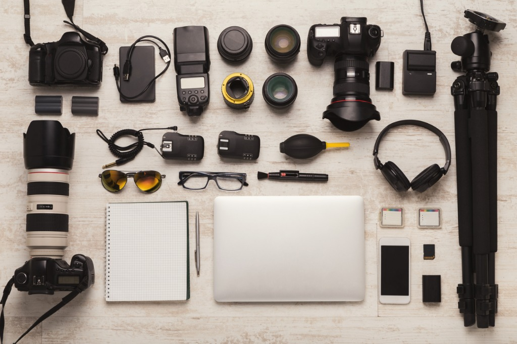 diverse personal equipment for photographer picture id953061410 image