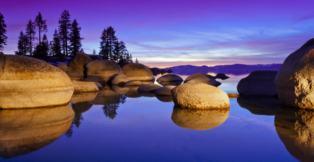 lake tahoe sunset with granite boulders picture id484346361 image