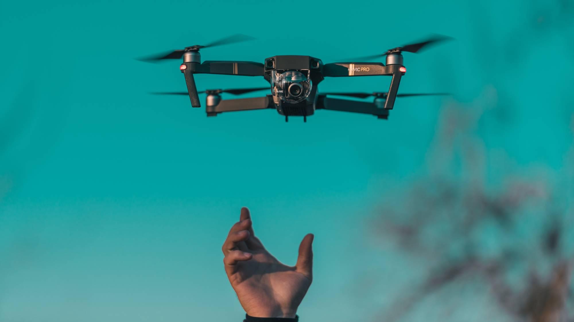 times square nye drone image