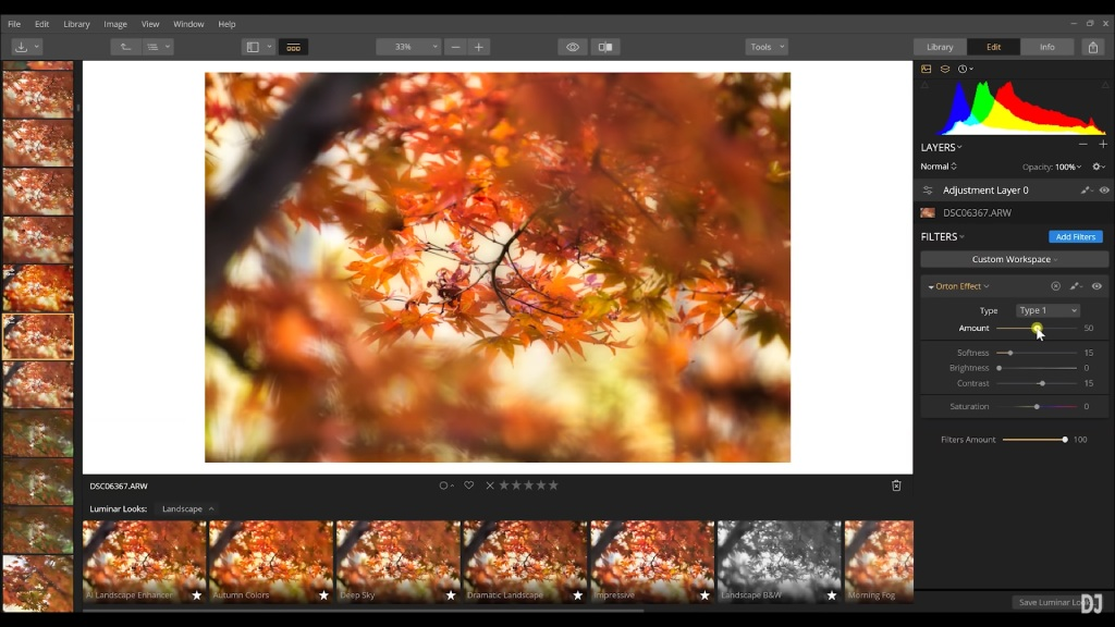 how to use filters in luminar image