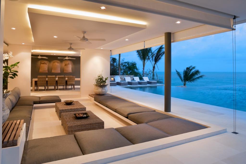 contemporary island villa picture id154952872
