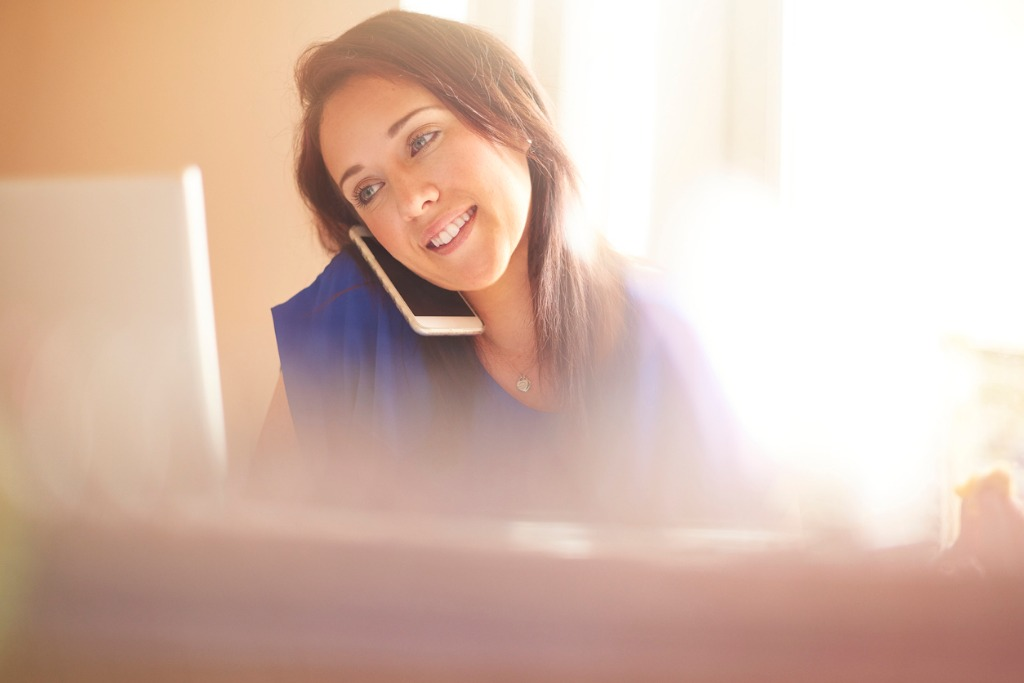 young woman working from home picture id531790866