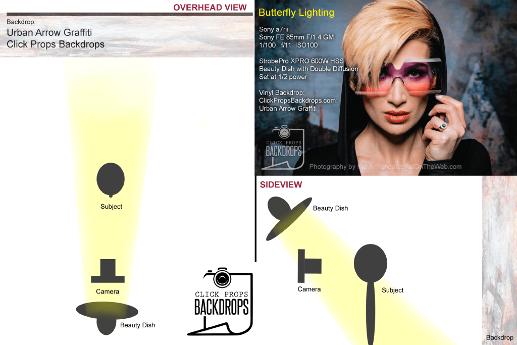 butterfly lighting diagram image