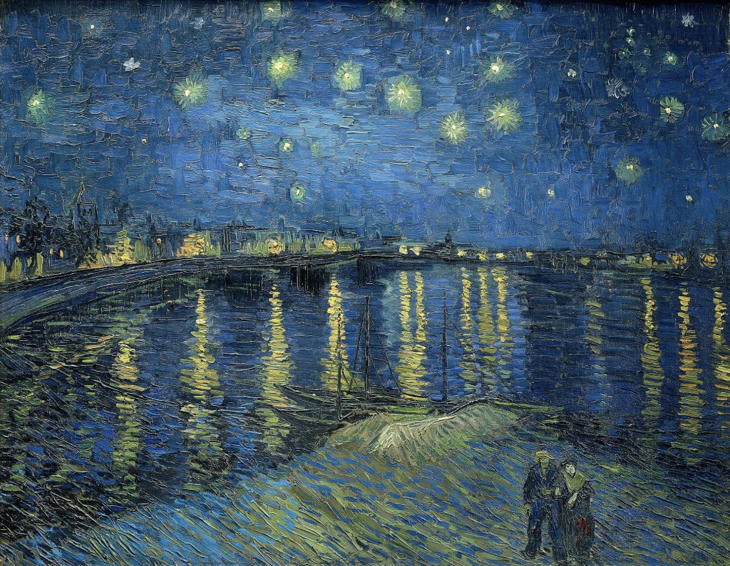starry night over the rhone image
