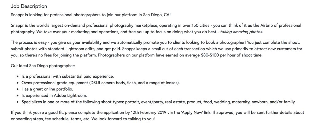 snappr jobs image