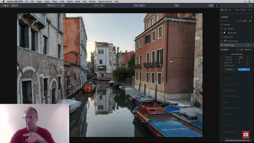 sample hdr workflow corrections  image