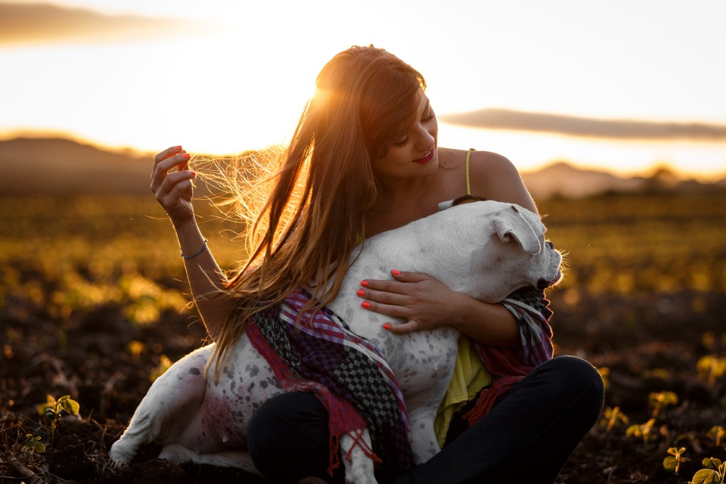 girl playing with her dog picture id931079978 image