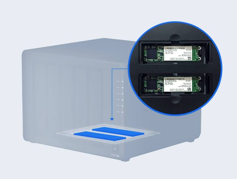 synology diskstation ds1019 internal components 2 image