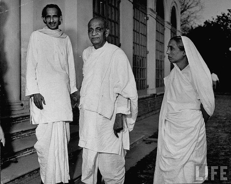 J. B. Kripalani Sardar Vallabhbhai Patel and Manibehn Patel image