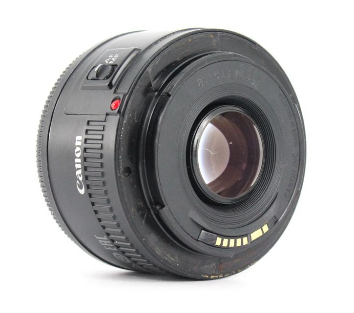 canon 50mm f1.8 II back image
