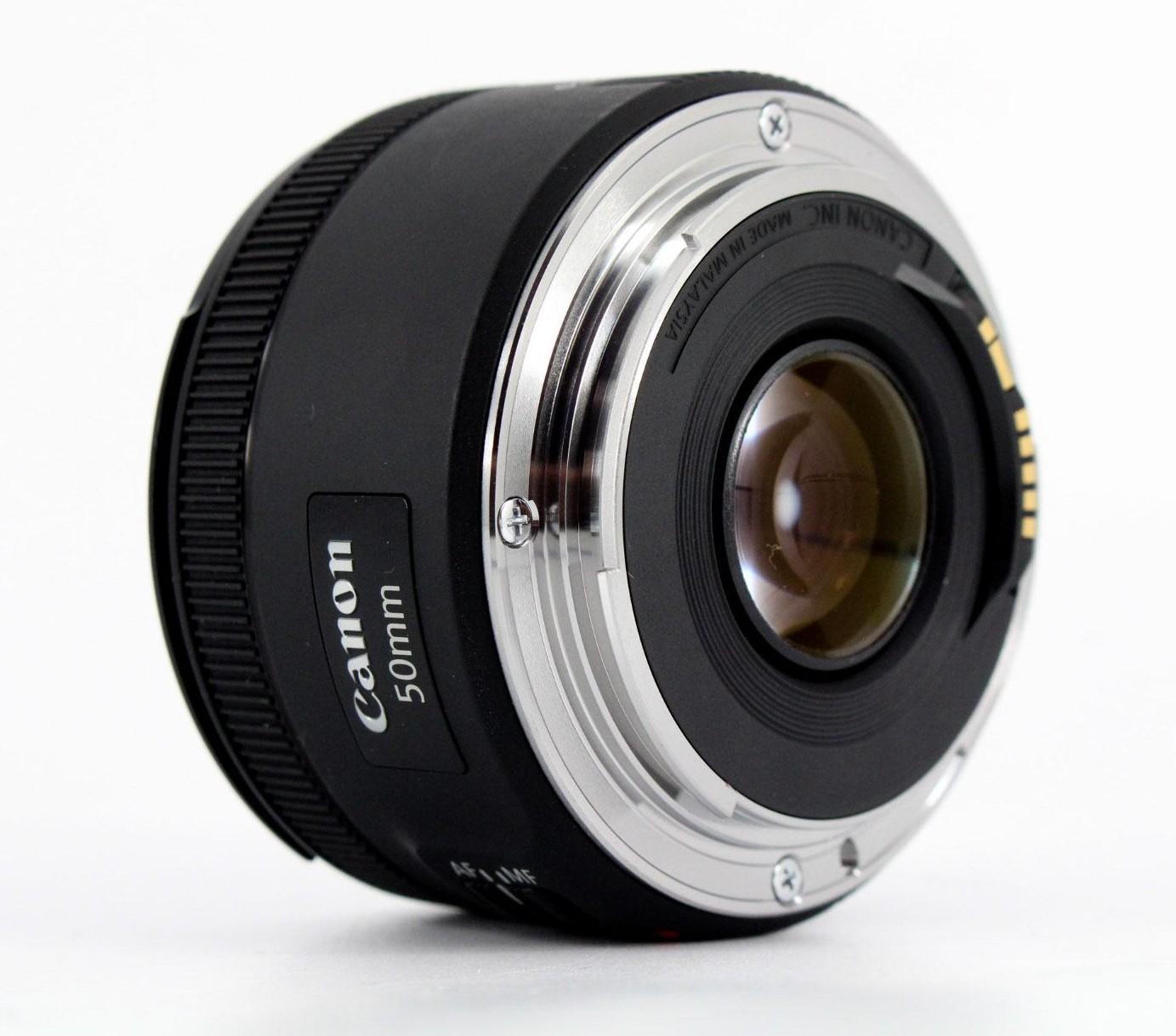 canon 50mm f1.8 stm back image