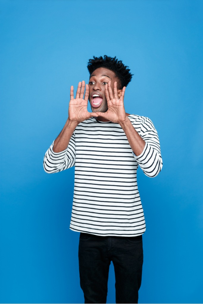 screaming afro american young man picture id539640590 image