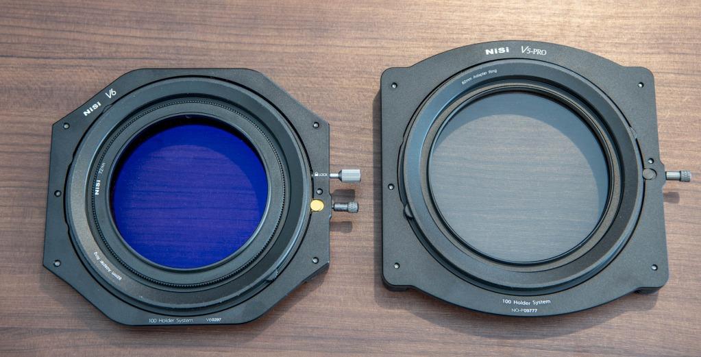 nisi v6 100mm filter holder vs nisi v5 100mm filter holder front image
