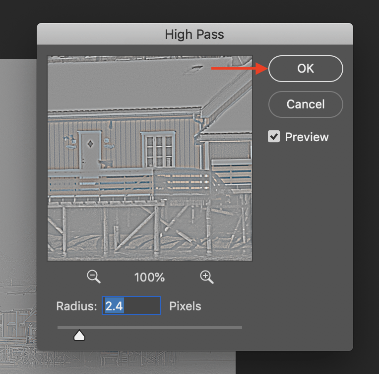 how to use a high pass filter step 3.1 image