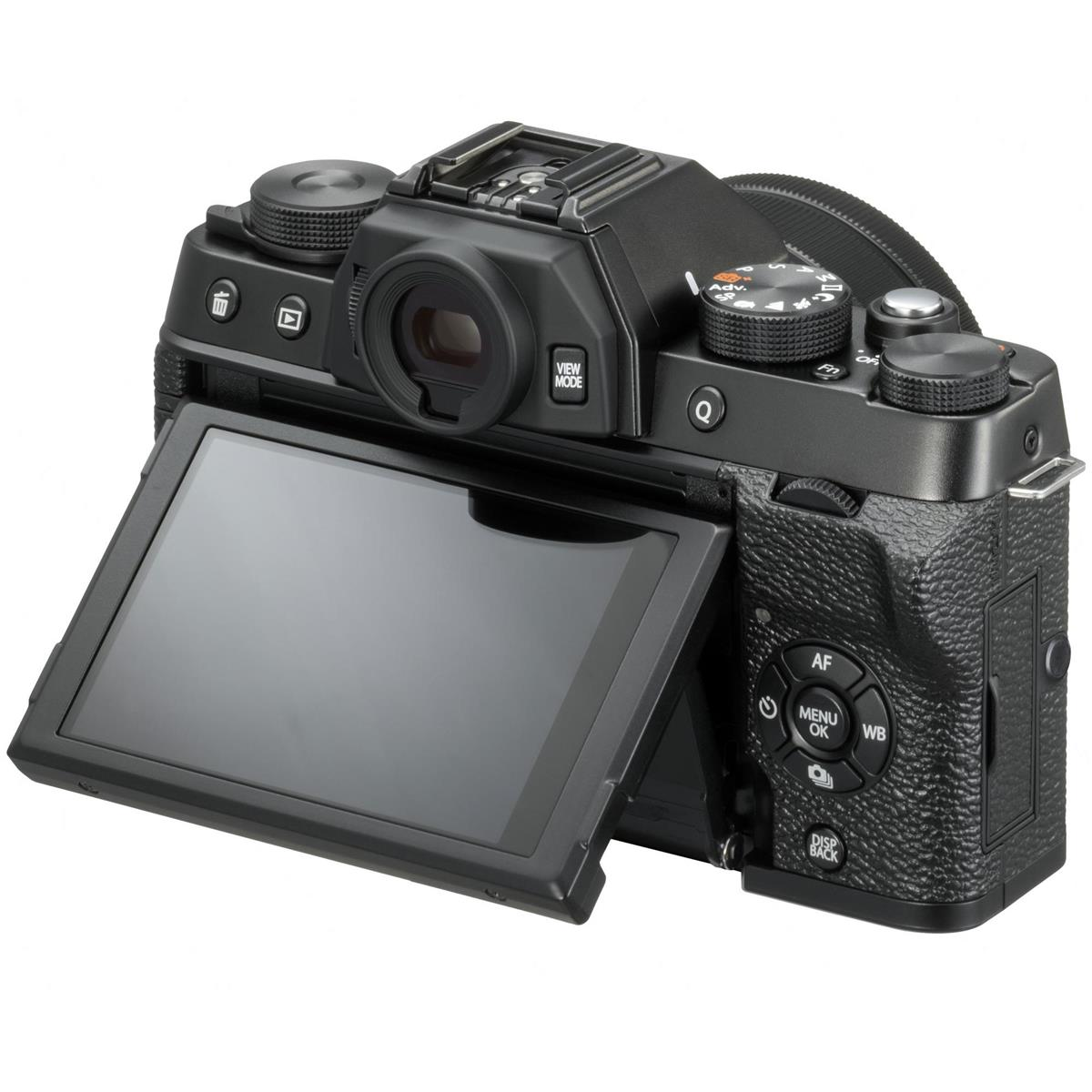 best mirrorless camera for beginngers fujifilm x t100 back image