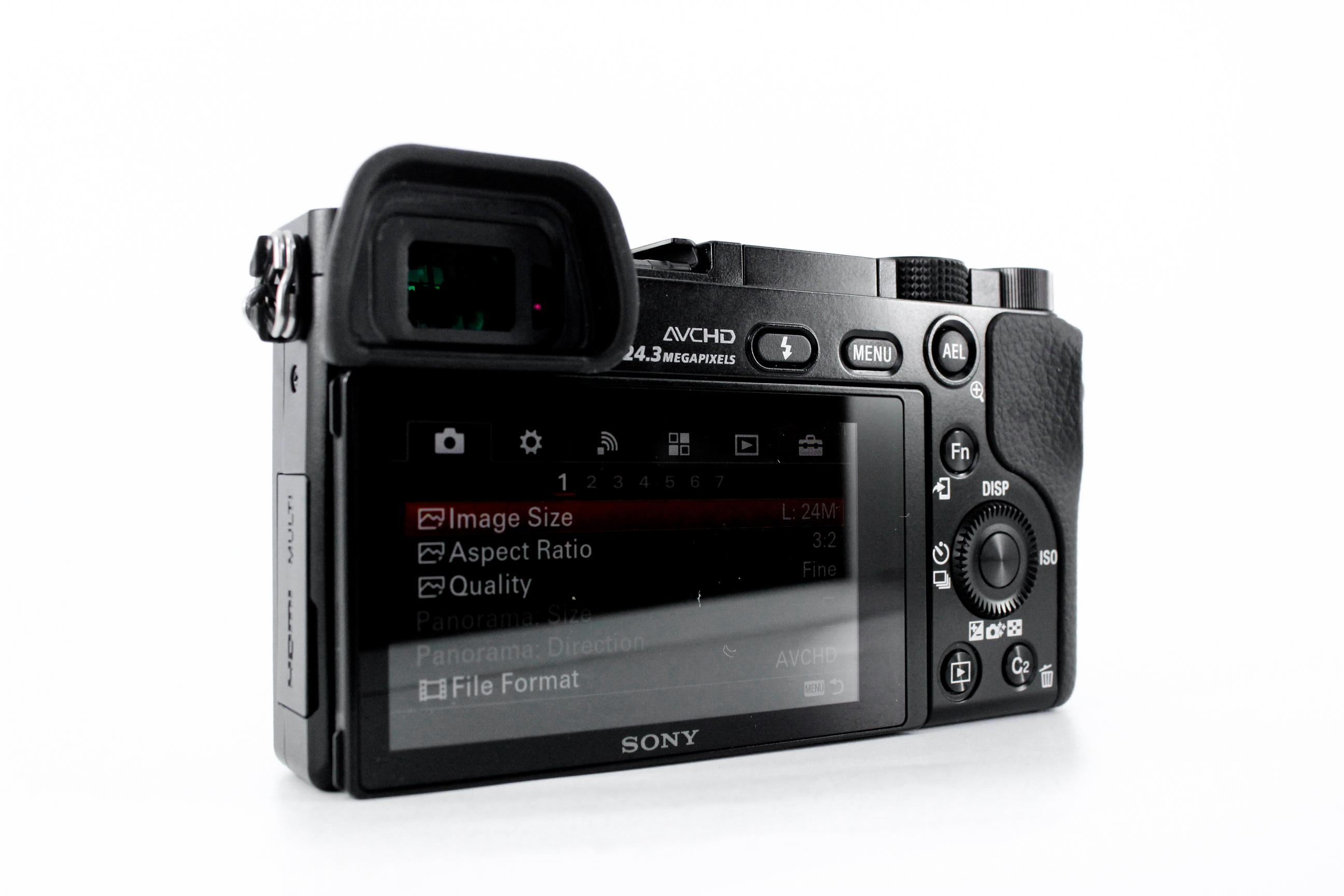 best sony cameras for portraits a6000 back image