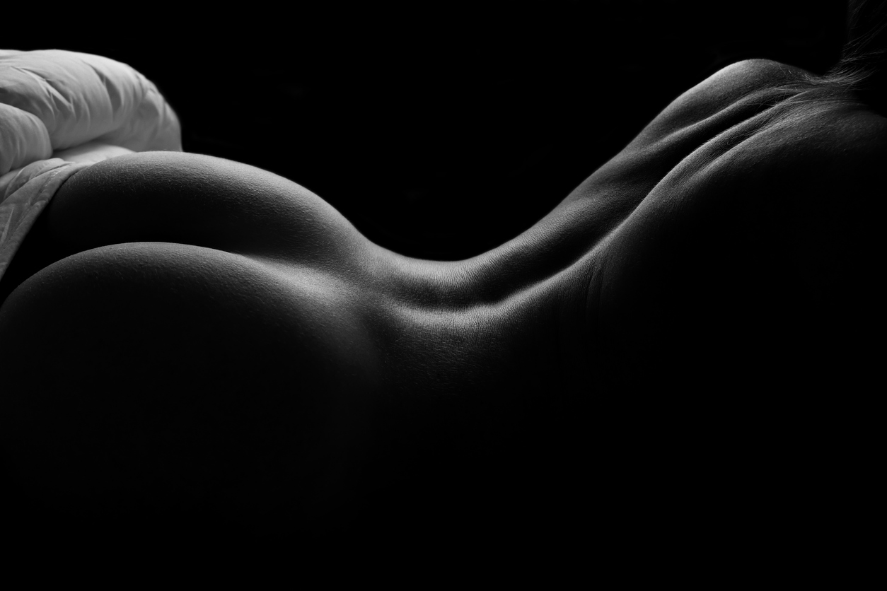 black and white nude photography image