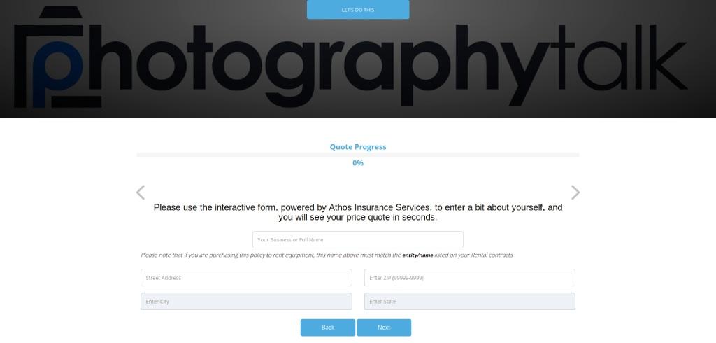 best photography insurance companies athos insurance