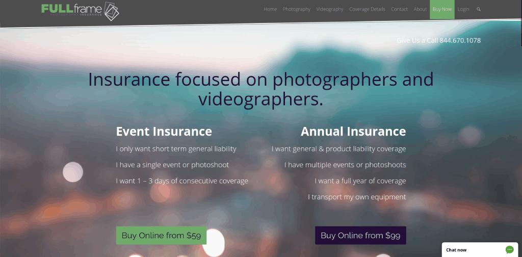 best photography insurance companies full frame insurance