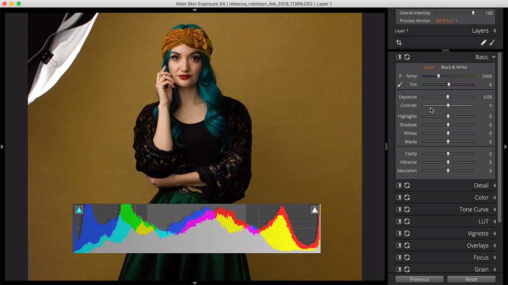 how to edit a flat photo contrast 2 image