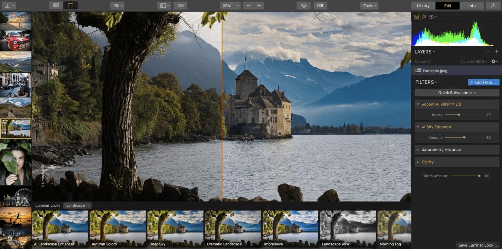 luminar 3 layout under 100 image