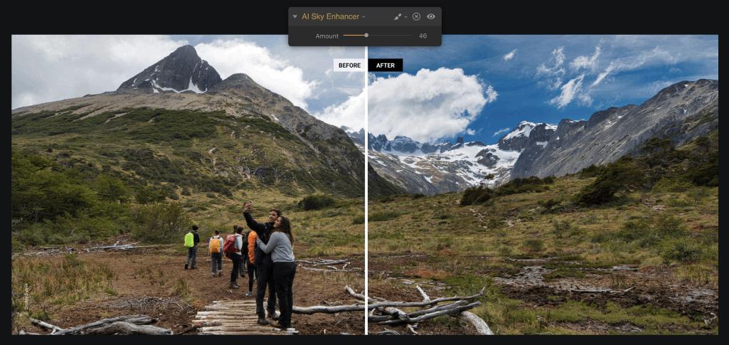 luminar 3 sky enhancement under 100 image