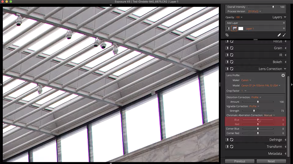 step 3 how to fix chromatic aberration image