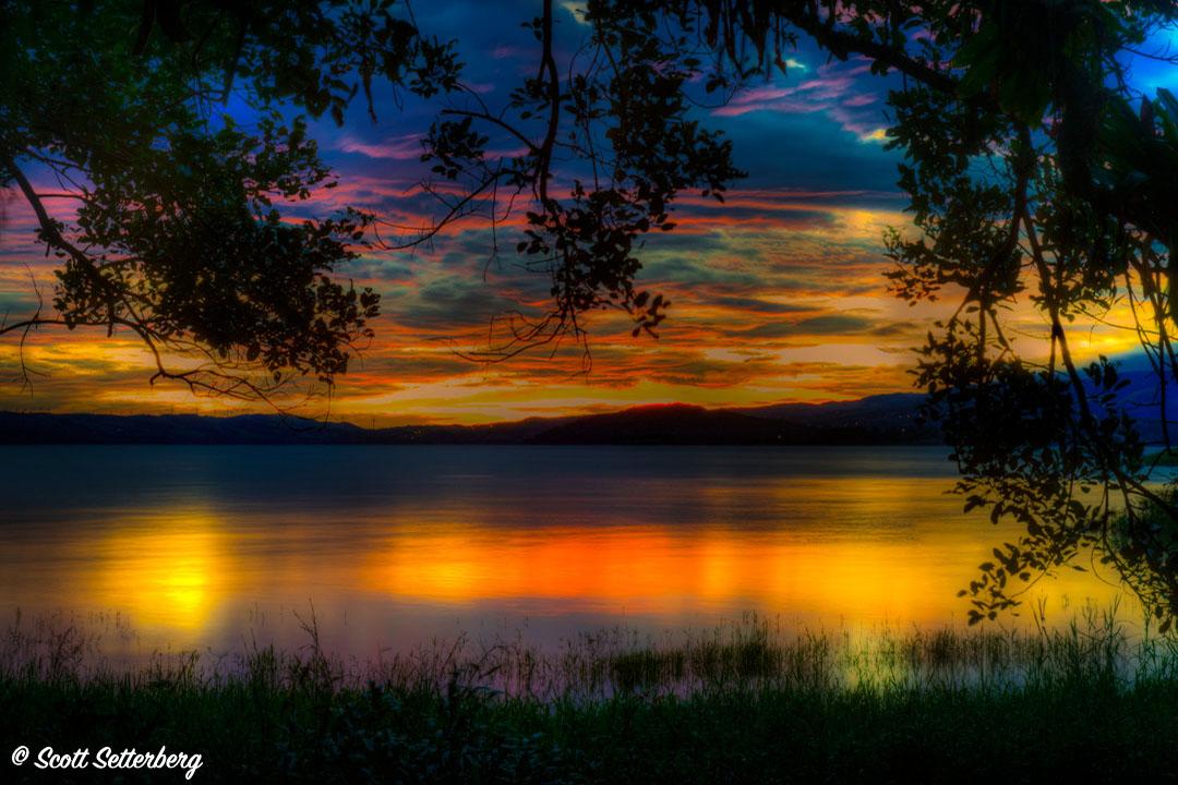 3. LakeArenalSunset Trees image
