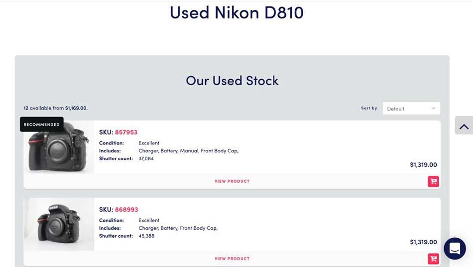 used nikon d810 image