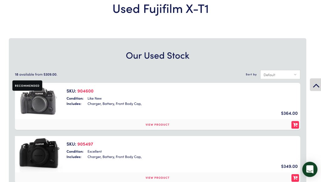 fujifilm x t1 price image