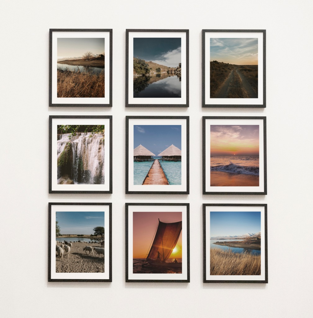 linear gallery wall image
