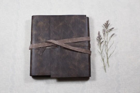 leather photo albums image