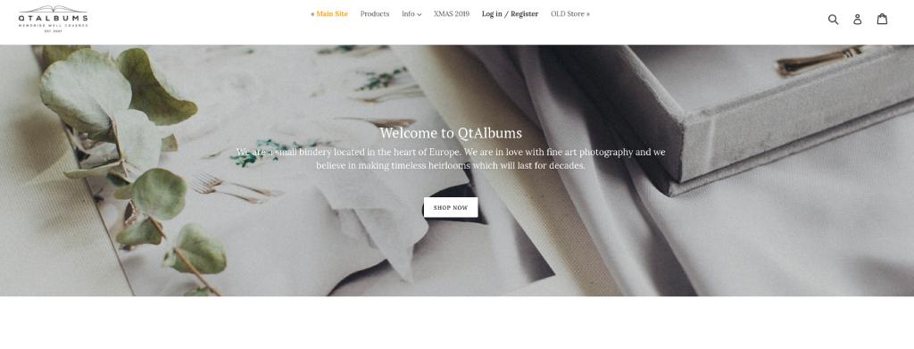qt albums website image