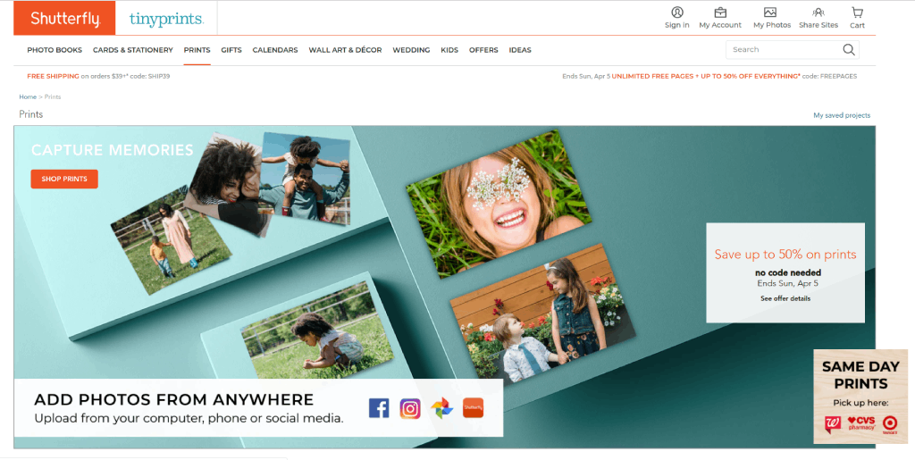 shutterfly products image