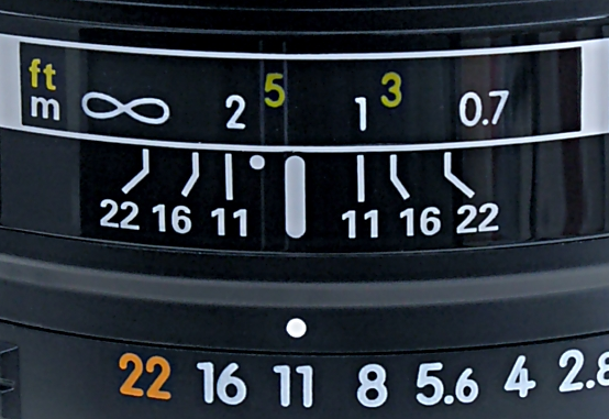 DOF scale detail image