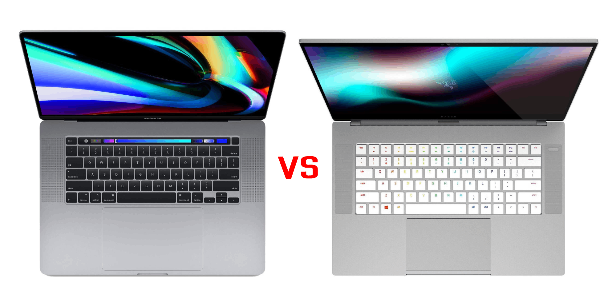 macbook pro vs razer blade 15 studio image