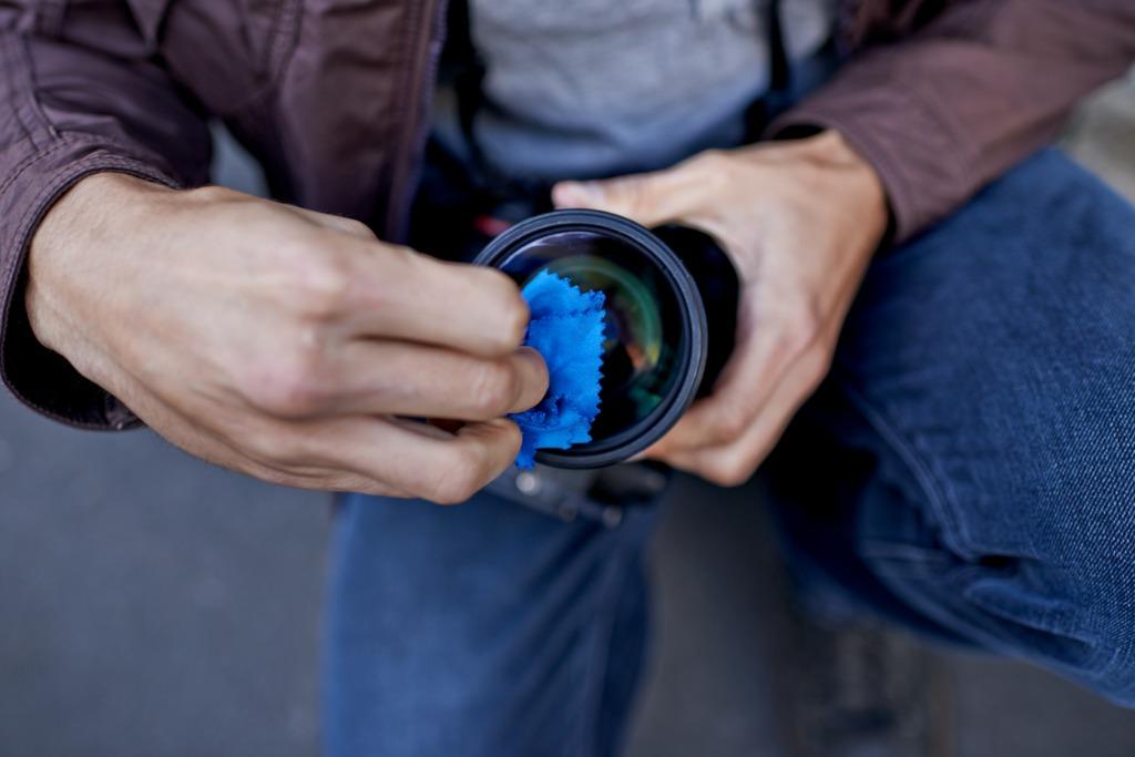 membersihkan gambar lensa 6 Anda