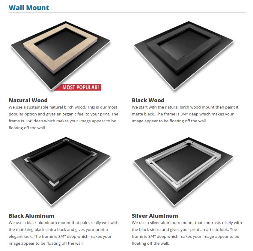 acrylic print buyers guide wall mount options image