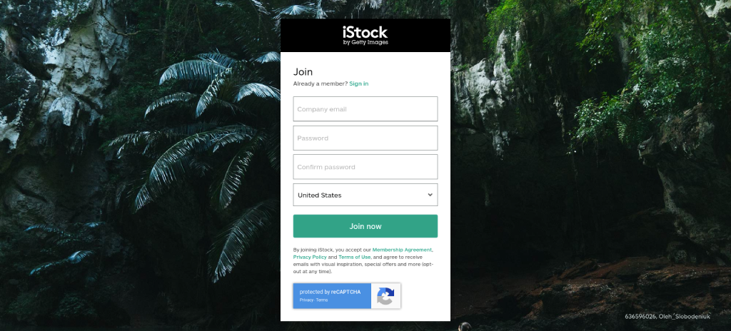 how to sign up for istock photo image