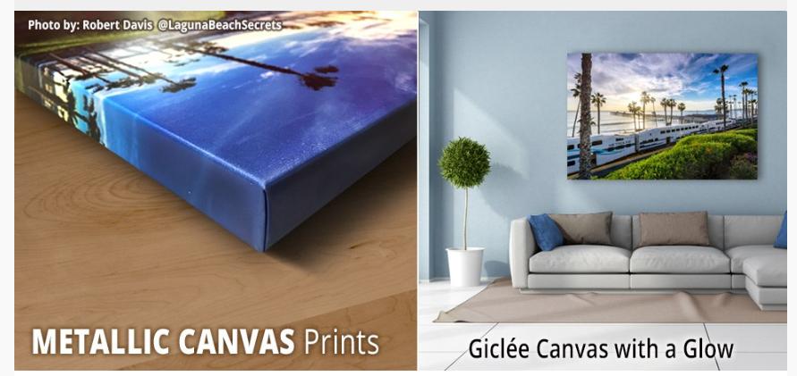 metallic canvas prints are iridescent image