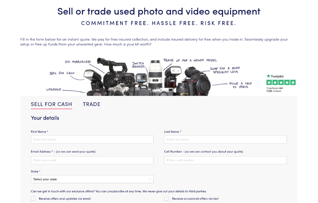 selling used photography gear image